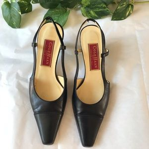2 For $20 SALE Cole Haan Pointed Heel Black SZ 6B